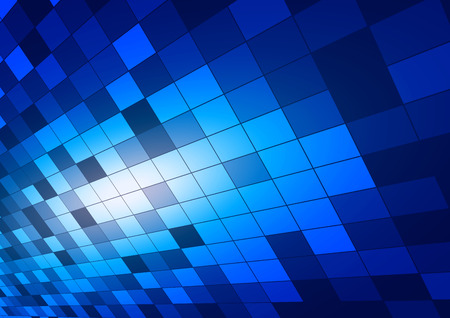 Abstract Squares Blue background, Vector Illustration