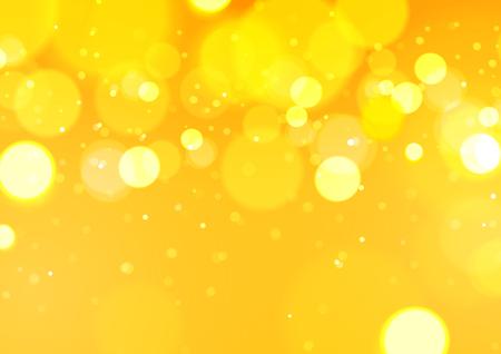 Bokeh abstrait fond jaune clair, illustration vectorielle