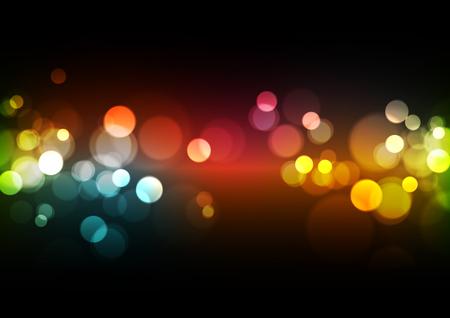 Fondo abstracto de luces Bokeh, ilustración vectorial Ilustración de vector