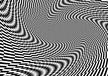 Abstract black and white swirl movement background, Vector illustration Foto de archivo - 122489222