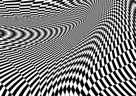 Abstract distorted Chess black and white Background, Vector illustration Foto de archivo - 122489226