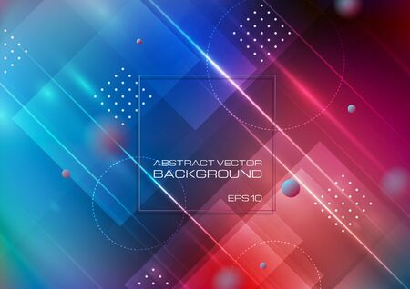 Abstract geometric shapes on colorful background. Vector Eps10 Ilustrace