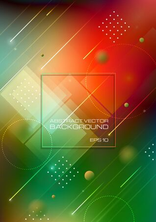 Abstract geomatric shapes colorful background. Vector Eps10