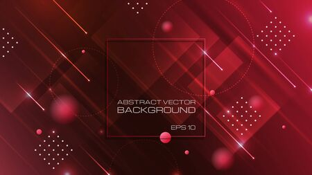 Abstract geometric shapes on red background. Vector Eps10 Ilustrace
