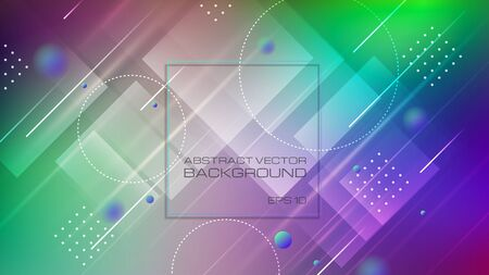 Abstract geometric shapes colorful background. Vector Eps10