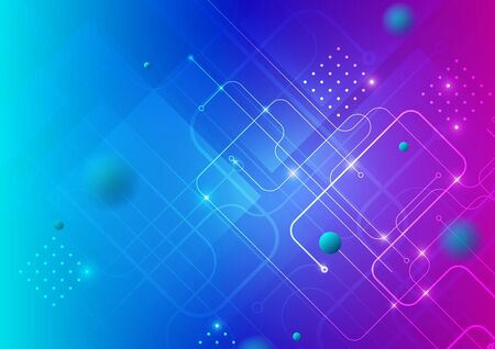 Abstract technology colorful background. Vector Eps10