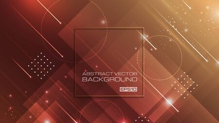 Abstract geometric shapes with brown background. vector