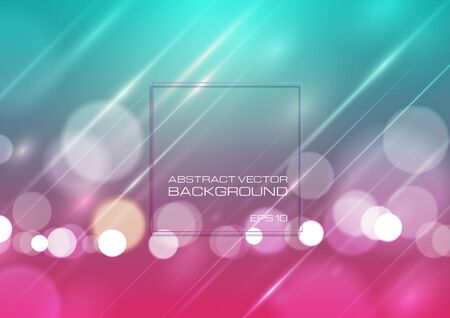 Abstract bokeh light on colorful background. Vector Eps10 Ilustrace