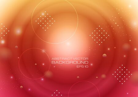 Abstract circles with lighting on gradient background. Vector Eps10