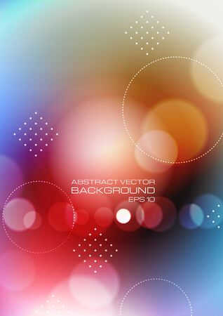 Abstract circles on colors background. Vector Ilustrace