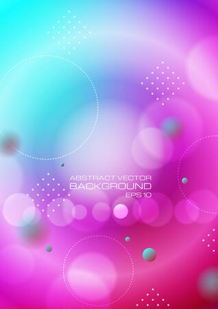 Abstract circles on blurred colors background. Vector
