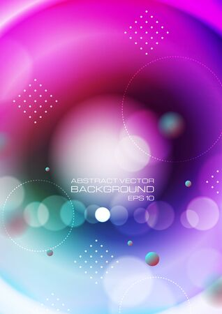 Abstract circles on colorful background. Vector Eps10