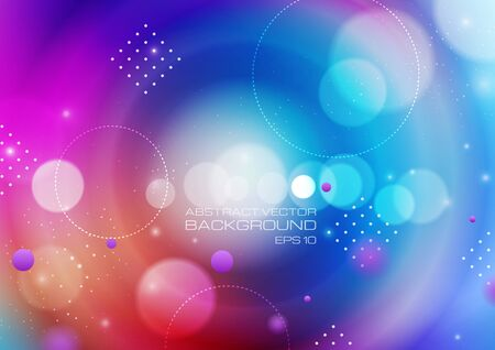 Abstract circles on blurred colors background. Vector Eps10 Ilustrace