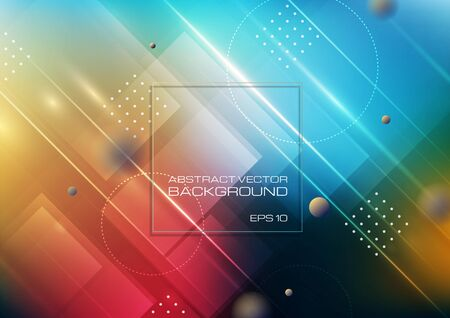 Abstract geometric shapes colors background. Vector Eps10