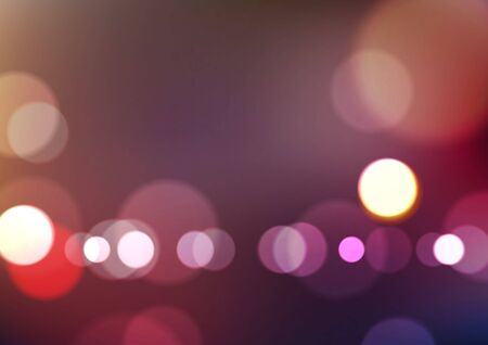 Abstract blurred colors background with bokeh light. Vector