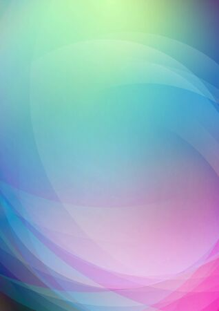 Abstract curved on colorful background. Vector Ilustrace
