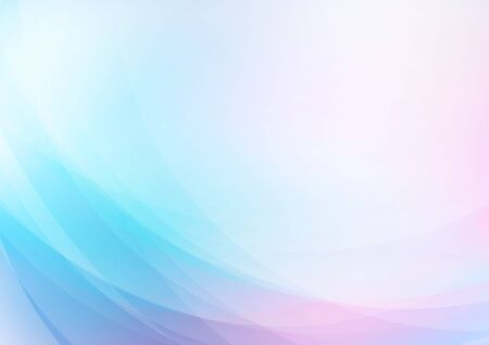 Abstract curved soft colors background. Vector