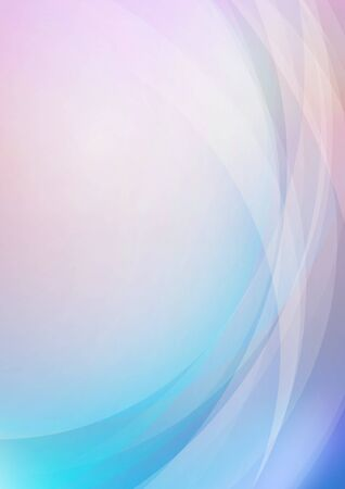 Abstract curved with soft colors background. Vector