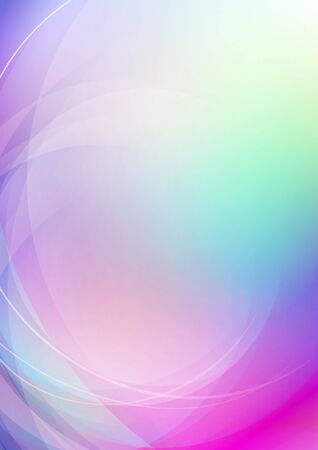 Abstract curved colorful background. Vector