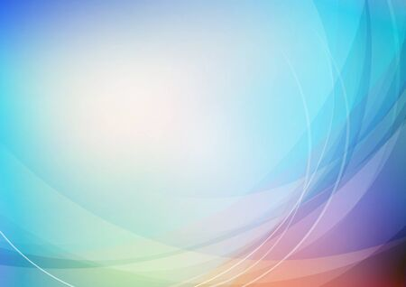 Abstract curved colors background. Vector