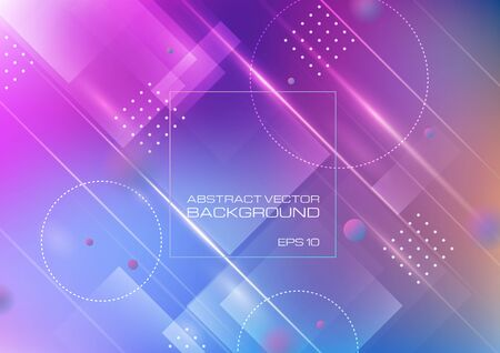 Abstract geometric shapes on colors background. Vector Eps10