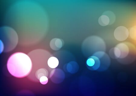 Abstract bokeh light on blurred colors background. Vector Eps10