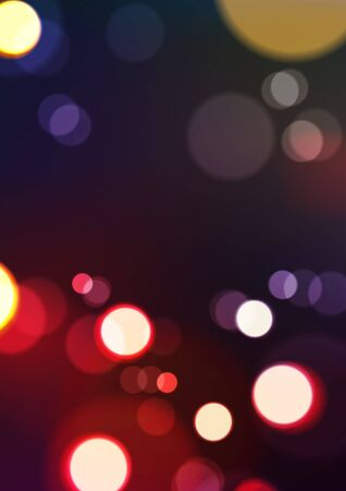 Abstract bokeh lights at night party. Vector Eps10