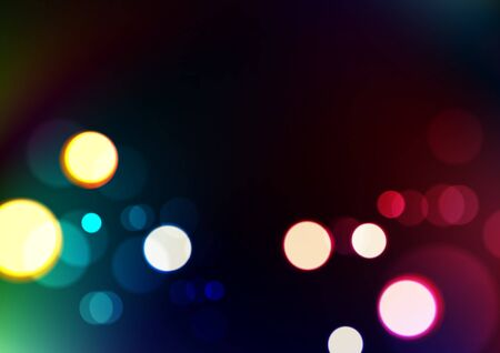 Abstract bokeh lights on blurred dark colors background. Vector Eps10 Ilustrace