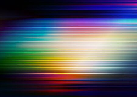 Horizontal speed lines with colorful background. Vector Eps10