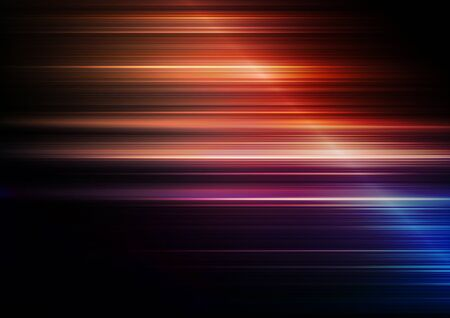 Horizontal speed lines with colors background. Vector Eps10