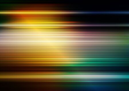 Horizontal speed lines with lighting and colorful background. Vector Eps10