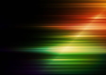 Horizontal speed lines with orange and green background. Vector Eps10