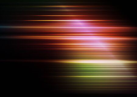 Horizontal speed lines on colors background. Vector
