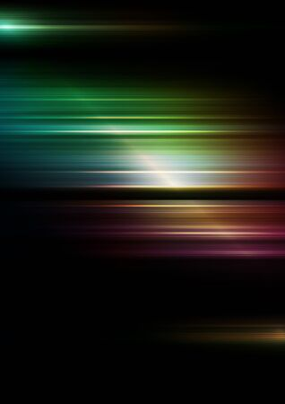 Horizontal speed lines with colors background. Vector