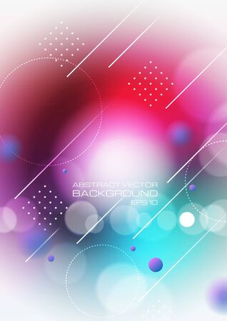 Abstract circles on blurred colorful background. Vector Eps10