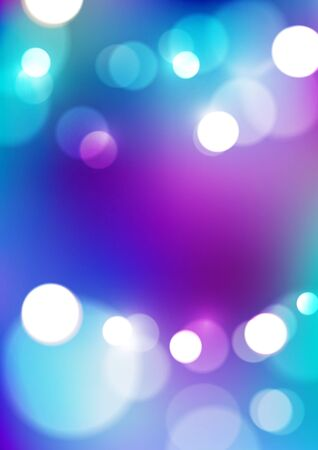 Abstract bokeh lights on violet blue background. Vector Eps10