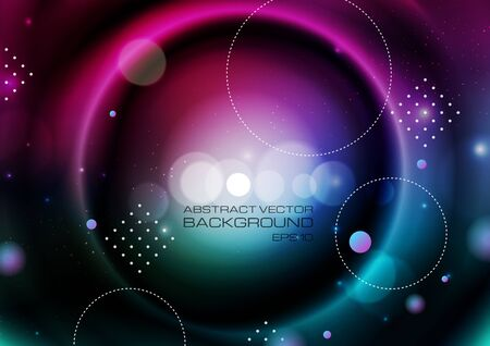 Abstract circles on blurred colors background. Vector Eps10  イラスト・ベクター素材