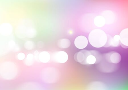 Abstract bokeh light with soft colors background. Vector Eps10