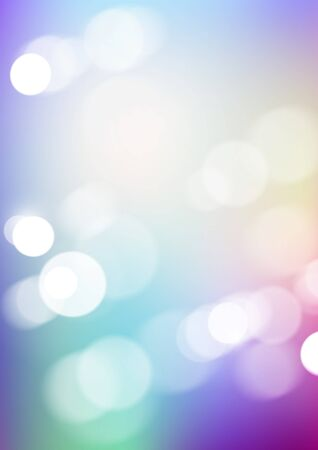 Abstract bokeh light with blurred colors background. Vector Eps10  イラスト・ベクター素材