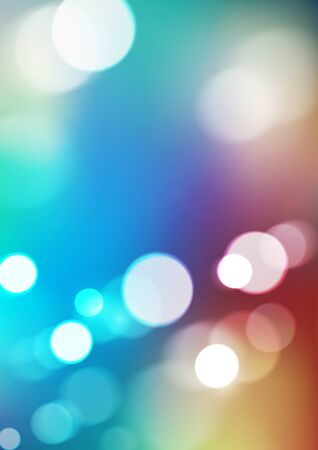 Abstract bokeh lights on colorful background. Vector  イラスト・ベクター素材