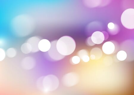 Bokeh lights on blurred colors background. Vector Eps10