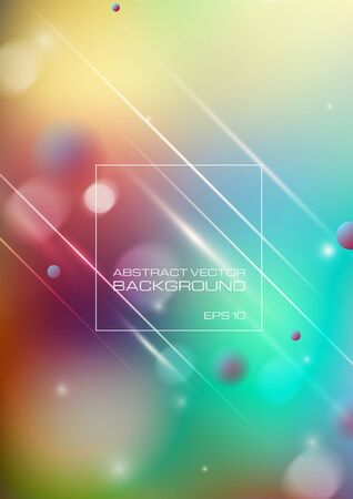 Abstract blurred colorful background. Vector Eps10