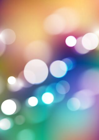Abstract bokeh lights on colorful background. Vector Eps10