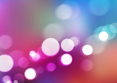 Abstract bokeh lights on blurred colorful background. Vector Eps10
