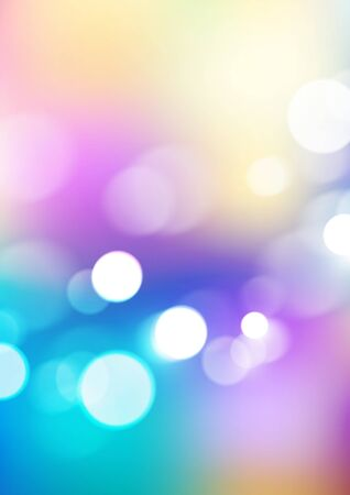 Abstract bokeh lights on soft colors background. Vector Eps10