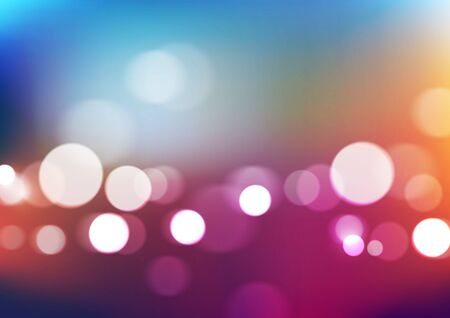 Abstract bokeh lights with blurred colors background. Vector Eps10  イラスト・ベクター素材