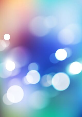Abstract bokeh lights on blurred colors background. Vector  イラスト・ベクター素材