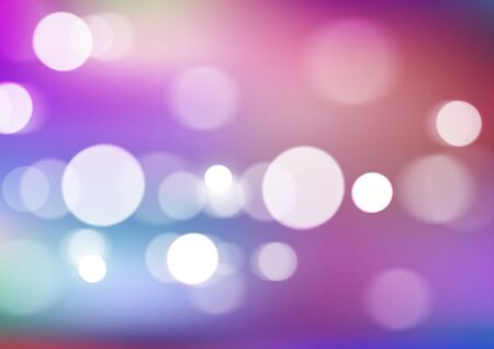 Abstract bokeh lights on blurred colors background. Vector Eps10