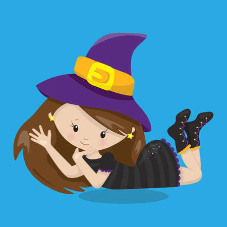 witch, lying, 04, Vector, illustration, cartoon, graphic, vectors, illus