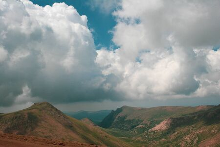 Mountain landscape with clouds on an summer or spring day
